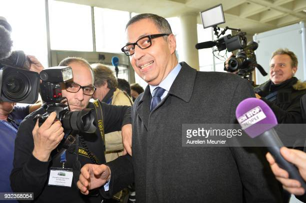 Lawyer Ardavan AmirAslani representing Laeticia Hallyday arrives to the courthouse for the Johnny Hallyday hearing commencing today at Tribunal de...