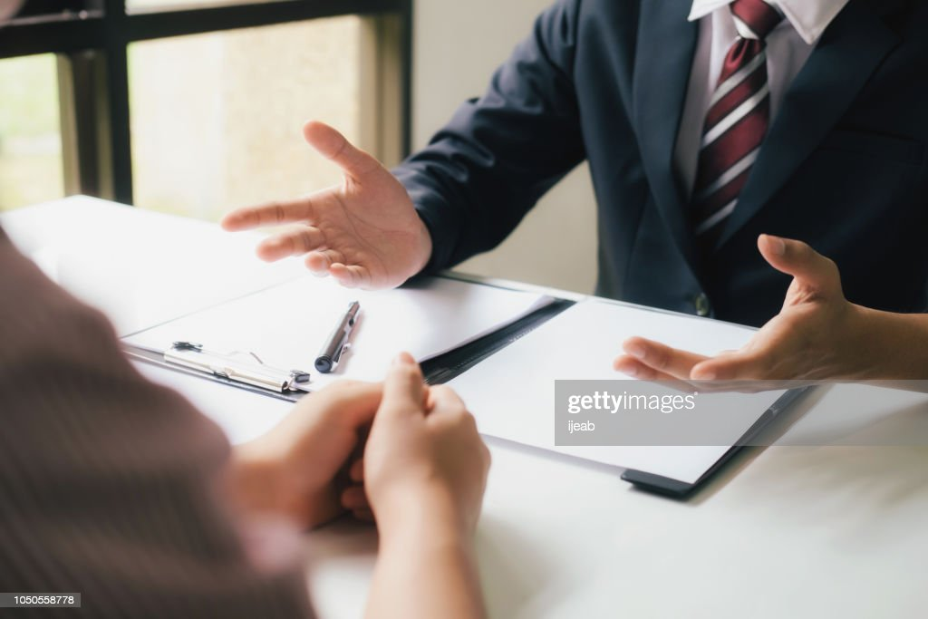 Lawyer are providing legal advice to clients. : Stock Photo