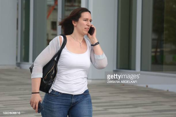 Lawyer Audrey Gadot leaves the headquarters of judicial police on July 20 2018 in Paris where her client top security French aide Alexandre Benalla...