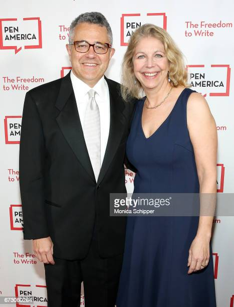 Lawyer author and legal analyst Jeffrey Toobin and Amy Bennett McIntosh attend the 2017 PEN America Literary Gala at American Museum of Natural...