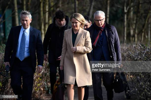 Lawyer Barry Pollack, Human rights lawyer Jennifer Robinson and Spanish former judge Baltasar Garzón arrive with other members of the defence team...