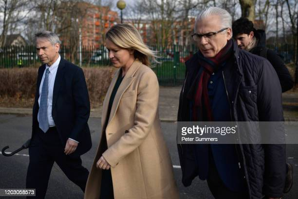 Lawyer Barry Pollack, Human rights lawyer Jennifer Robinson and Spanish former judge Baltasar Garzón arrive at Woolwich Crown Court prior to Julian...