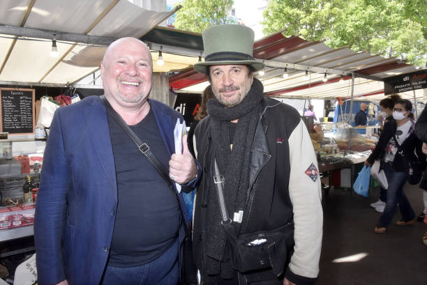 "FRA: Francis Lalanne Attends The ""Reaction 19"" Event On La Motte Picquet Grenelle Market"