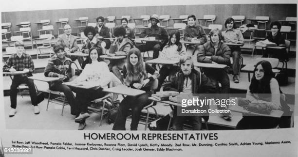 Lawyer Chris Darden in his high school year book with his fellow Homeroom Representatives in 1974 in California