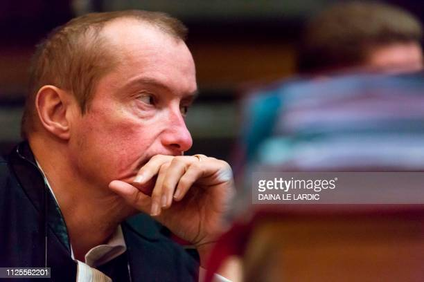 Lawyer Christian Dalne representing civil party Annie Adam mother of victim Alexandre Strens looks on prior the hearings during the trial of Mehdi...