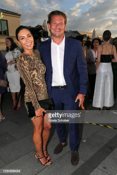 Lawyer Christian-Oliver Moser and Nazan Eckes during the Frauen100 event at Hotel De Rome on July 29, 2021 in Berlin, Germany.