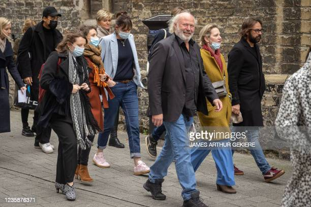 Lawyer Christine Mussche , actress Liesa Naert and actress Maaike Cafmeyer and her husband Frans Grapperhaus arrive for a session of the Criminal...