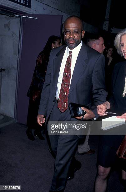 Lawyer Christopher Darden attending the opening of Assassins on March 31 1995 at the Los Angeles Theater Center in Los Angeles California