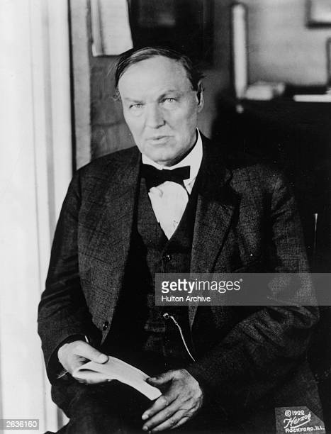 US lawyer Clarence Seward Darrow defence lawyer in the John Scopes case in which a Tennessee teacher was charged for teaching the theory of evolution...