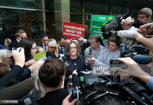 Lawyer Dr Vivian Waller speaks to the media after Chief Judge Peter Kidd handed down his sentence for Cardinal George Pell at Melbourne County Court...