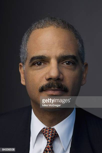 Lawyer Eric Holder poses at a portrait session
