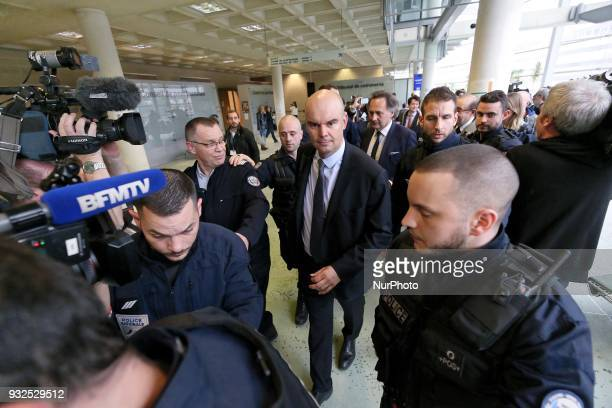 Lawyer for Laura Smet Emmanuel Ravanas leaves a courtroom in Nanterre on March 15 where the two older children of iconic French musician Johnny...