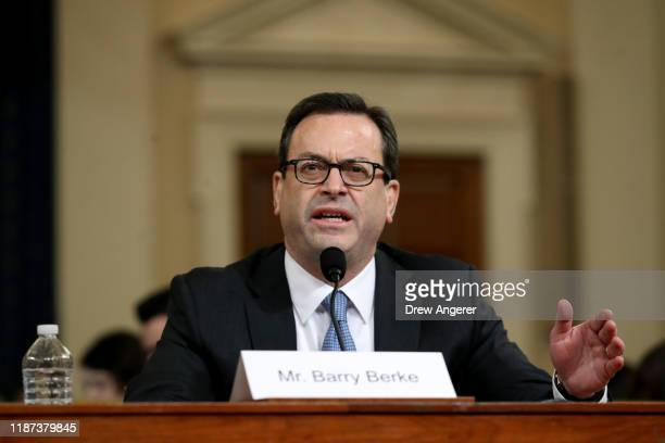 Lawyer for the House Judiciary Committee, Barry Berke representing the majority Democrats testifies before the House Judiciary Committee in the...