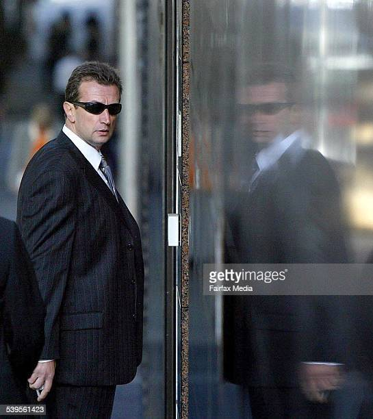 Lawyer George Defteros at the Melbourne Custody Centre to visit his client Mick Gatto who has been charged with the murder of Andrew Veniamin...