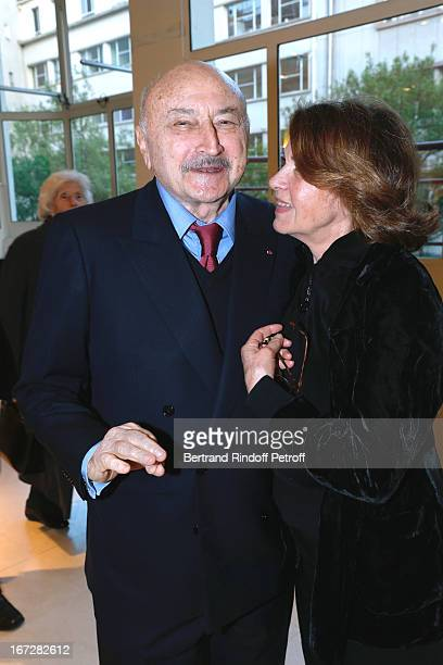 Lawyer Georges Kiejman and Baroness Martine de Clermont Tonnerre attend 'Hannah Arendt' Paris movie Premiere held at Majestic Passy on April 23 2013...