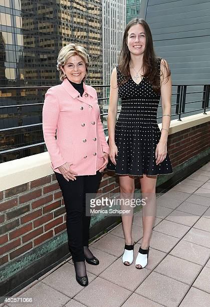 Lawyer Gloria Allred and Natalie White are seen at the Omni Berkshire Place Hotel on July 23 2014 in New York City