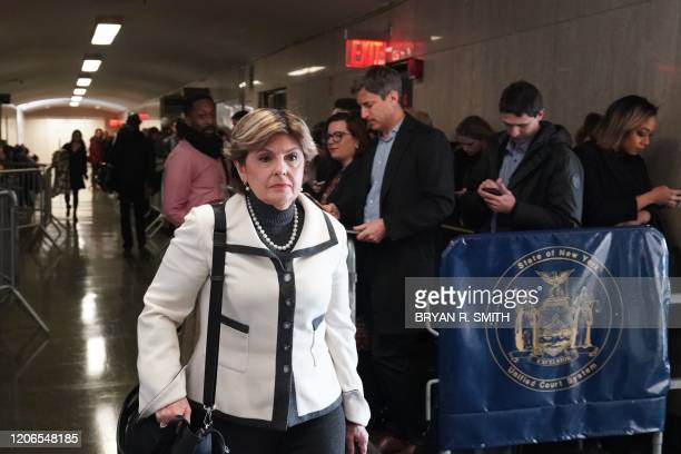 Lawyer Gloria Allred arrives for the sentencing of movie producer Harvey Weinstein at Manhattan Criminal Court on March 11 2020 in New York Harvey...