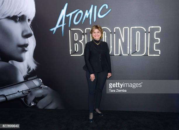 Lawyer Gloria Allred attends the premiere Of Focus Features' 'Atomic Blonde' at The Theatre at Ace Hotel on July 24 2017 in Los Angeles California