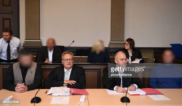 Lawyer Herbert Boeker defendants Manfred W Kathrin W and the latters lawyer Eva Dworschakm as well as defendant Neal B his lawyer Wolf Leschmann the...