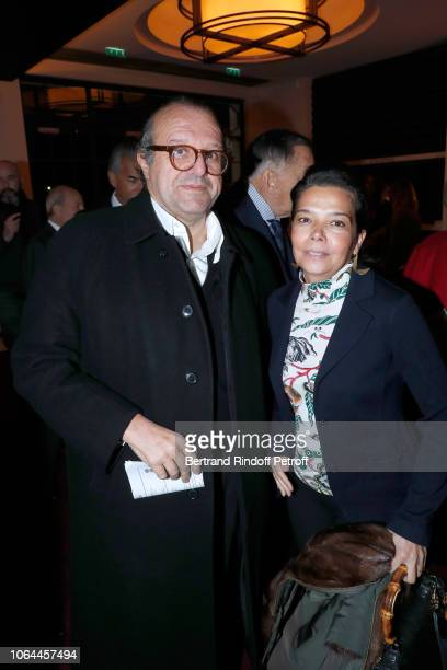 Lawyer Herve Temime and Sophie Douzal attend the Reopening of The Marigny Theater with the with the Musical Fairy Peau d'Ane on November 22 2018 in...