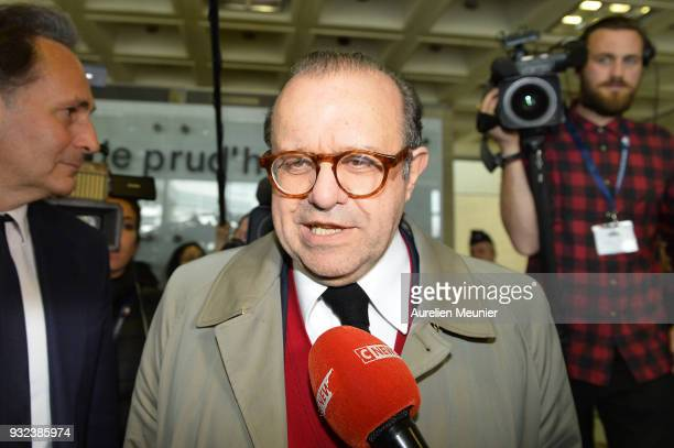 Lawyer Herve Temime representing Laura Smet arrives to the courthouse for the Johnny Hallyday hearing commencing today at Tribunal de Grande Instance...