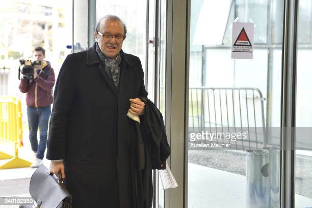 Lawyer Herve Temime representing Laura Smet arrives to the courthouse for the Johnny Hallyday hearing today at Tribunal de Grande Instance on March...