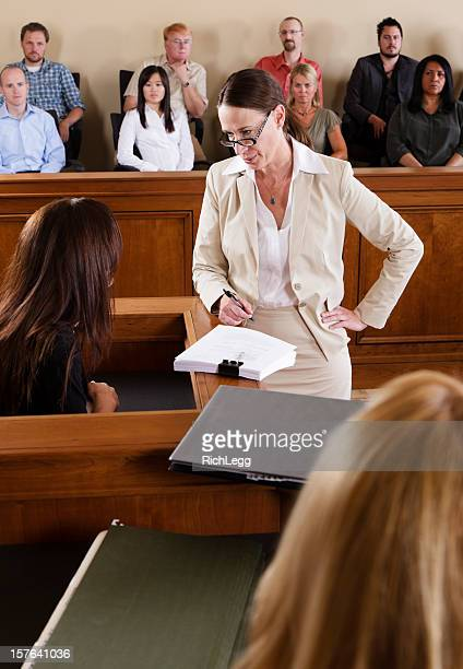 lawyer in a courtroom - witness stock pictures, royalty-free photos & images