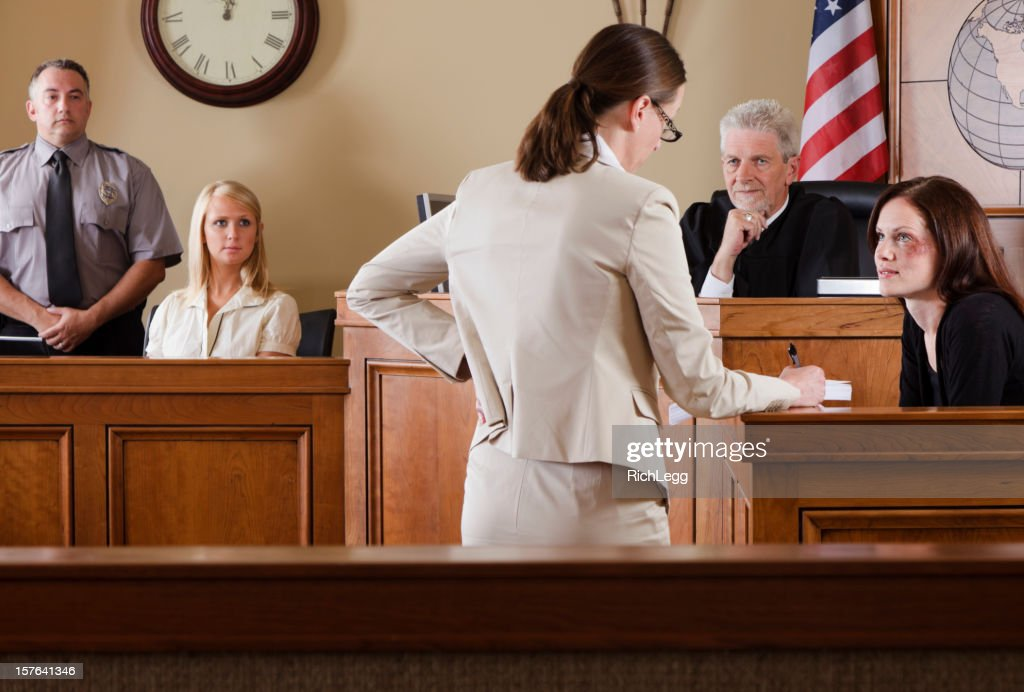 Lawyer in a Courtroom : Stock Photo