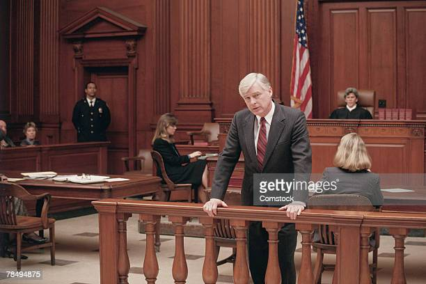 lawyer in courtroom - juror law stock pictures, royalty-free photos & images