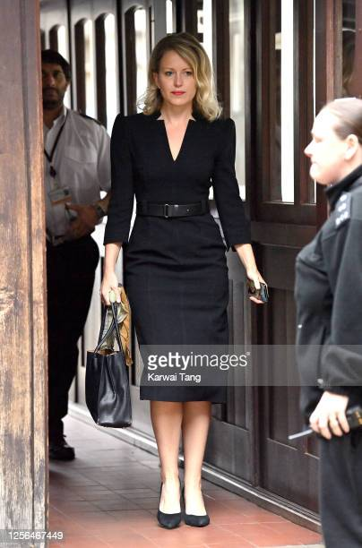 Lawyer Jennifer Robinson arrives at Royal Courts of Justice, Strand on July 16, 2020 in London, England. American actor Johnny Depp is taking News...