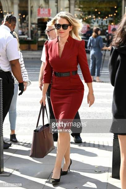 Lawyer Jennifer Robinson arrives at the Royal Courts of Justice The Strand on July 22 2020 in London England The Hollywood Actor is suing News Group...