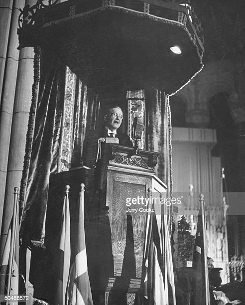 Lawyer John Foster Dulles, declaring American's must develop a creative faith.