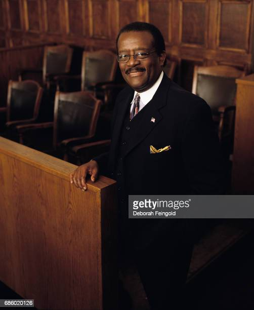 lawyer Johnnie Cochran poses for a portrait in 2002 in New York City New York