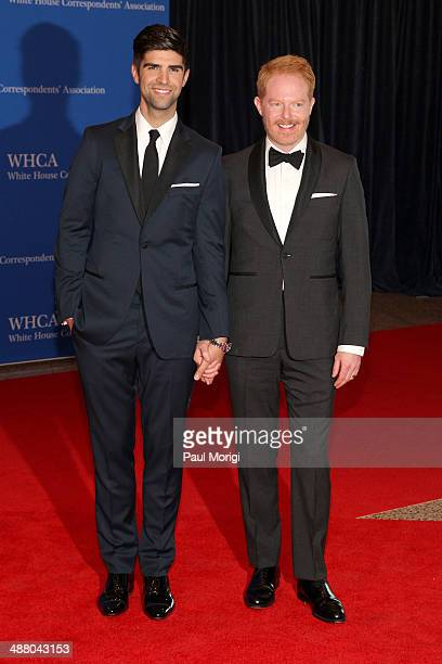 Lawyer Justin Mikita and actor Jesse Tyler Ferguson attend the 100th Annual White House Correspondents' Association Dinner at the Washington Hilton...