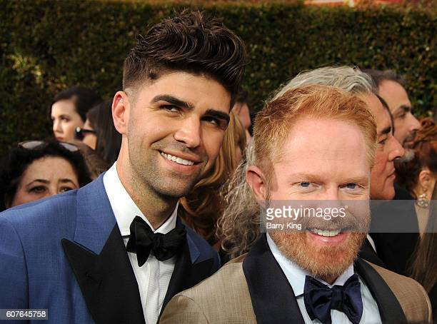 Lawyer Justin Mikita and actor Jesse Tyler Ferguson attend the 68th Annual Primetime Emmy Awards at Microsoft Theater on September 18 2016 in Los...