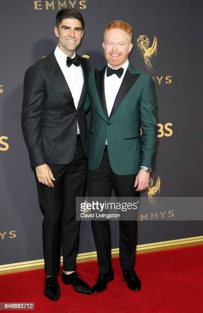 Lawyer Justin Mikita and actor Jesse Tyler Ferguson attend the 69th Annual Primetime Emmy Awards Arrivals at Microsoft Theater on September 17 2017...
