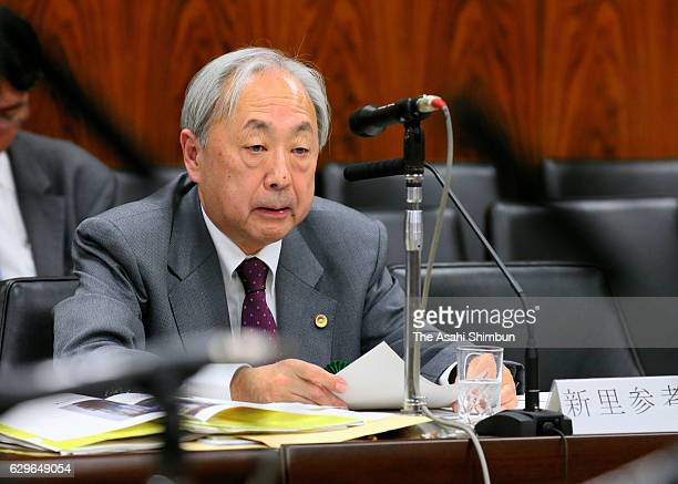 Lawyer Koji Niisato speaks during the Upper House Committee on Cabinet which deliberate the casino bills on December 12 2016 in Tokyo Japan The bill...