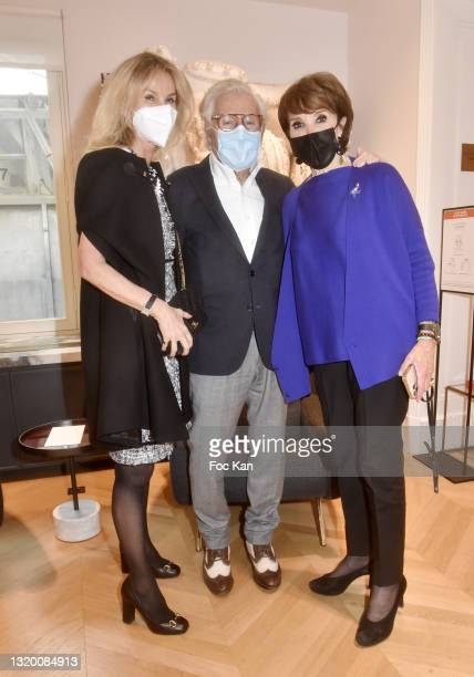 Lawyer Laura Restelli Brizard, photographer Jean Daniel Lorieux and Yaguel Didier attend Yaguel Didier's Candles Launch at Le Bon Marche on May 25,...