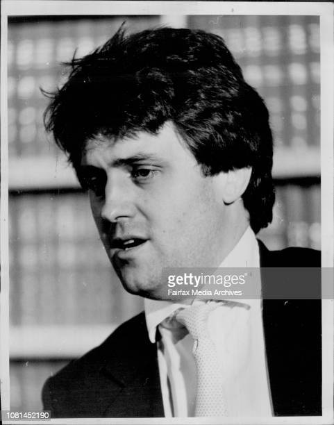 Lawyer Malcolm Turnbull who is representing author Peter Wright in the MI5 case He was picture at a press conference in his offices in Park St Sydney...