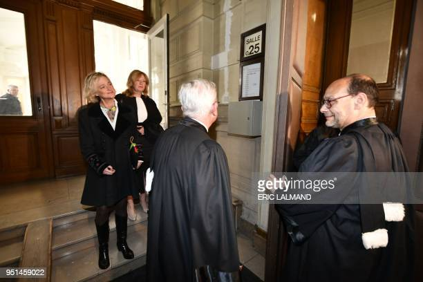 Lawyer Marc Uyttendaele and Belgian artist Delphine Boel arrive for a session at the Appeal Court to set the agenda in the appeal of the case of...