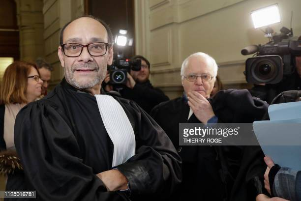 Lawyer Marc Uyttendaele and Lawyer Alain Berenboom pictured during a session at the Appeal Court in the appeal in the case of Delphine Boel to...
