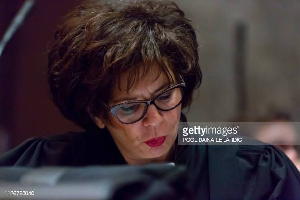 Lawyer Michele Hirsch representing the committee of Jewish organisations CCOJB pictured during a session of the trial for the terrorist attack at the...