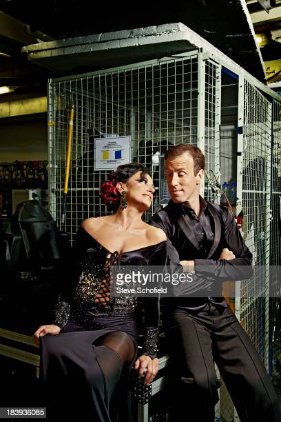 Lawyer Nancy Dell'olio seen participating in the BBC's show Strictly Come Dancing is photographed for the Sunday Times magazine on October 20, 2011...