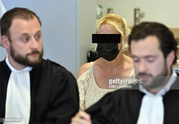 Lawyer Nathan Mallants and lawyer Adrien Croisier, representing the accused Carine Gilsoul pictured during the jury constitution session at the...