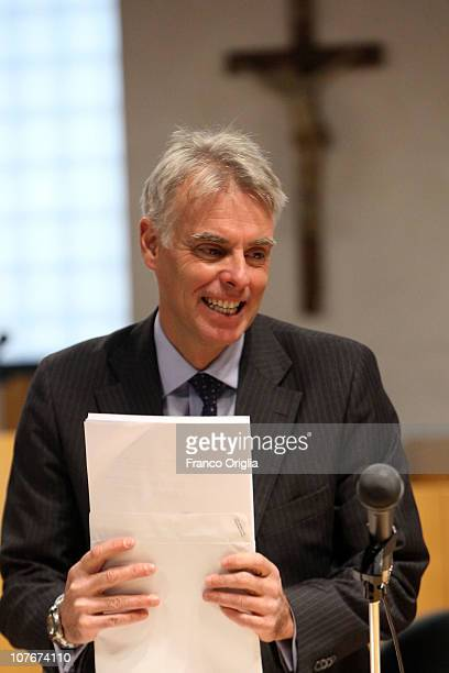 Lawyer of Amanda Knox Carlo Della Vedova attends the appeal hearing of Amanda Knox over the guilty verdict in the murder of Meredith Kercher in...