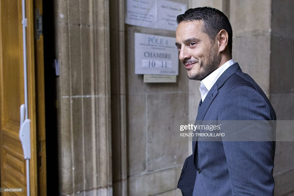 Lawyer of French rogue trader Jerome Kerviel David Koubbi is pictured, on August 26, 2014 at Paris courthouse, as he arrives to take part in a hearing of the appeal trial against the decision of a French judge who ruled on early August that Kerviel could be released from prison if he wears an ankle bracelets.