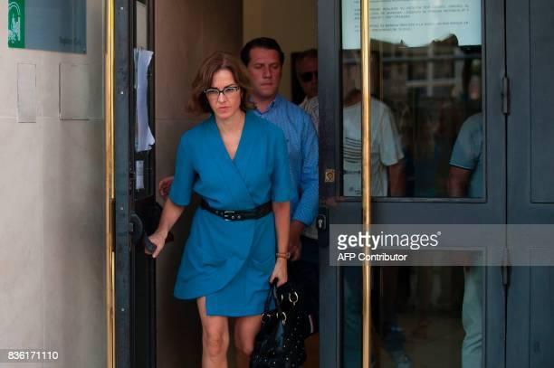 Lawyer of Juana Rivas Maria Castillo leaves the court of Granada on August 21 2017 Italian citizen Francesco Arcuri the expartner of Spanish Juana...