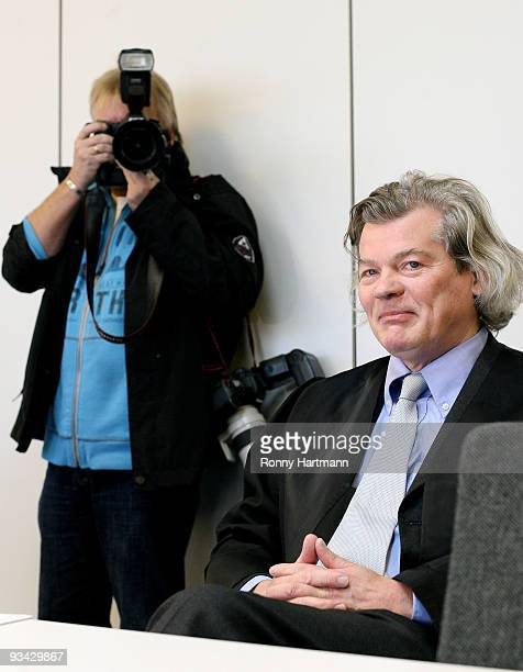 Lawyer of Prince Ernst August of Hanover Hans Wolfgang Euler is pictured at the county court of Hildesheim on November 2009 in Hildesheim Germany In...