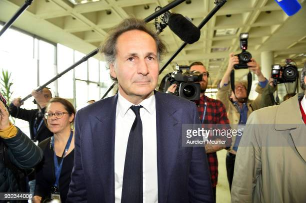 Lawyer Pierre Olivier Sur representing Laura Smet arrives to the courthouse for the Johnny Hallyday hearing commencing today at Tribunal de Grande...