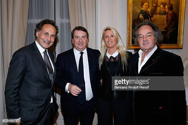 Lawyer PierreOlivier Sur President of Engie Foundation Philippe Peyrat Alice Bertheaume and Gonzague Saint Bris attend the Reception for the King of...